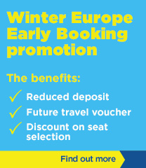 Winter Europe Early Booking promotion