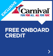 Carnival Free Onboard Credit promotion