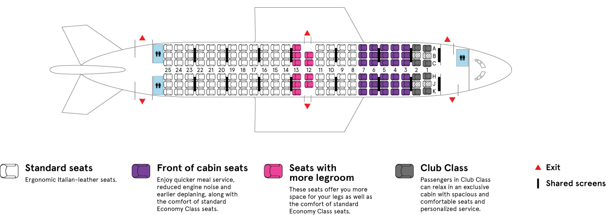 Air Transat Boeing 737-800 aircraft cabin