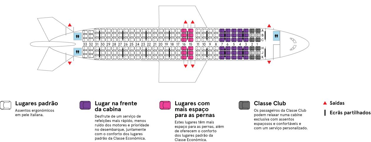 Cabina da aeronave Airbus A320-200-no-Canada da Air Transat