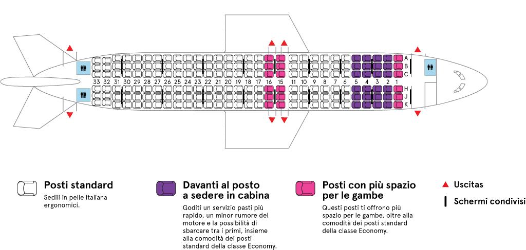 Cabina aereo Air Transat Airbus A320-200