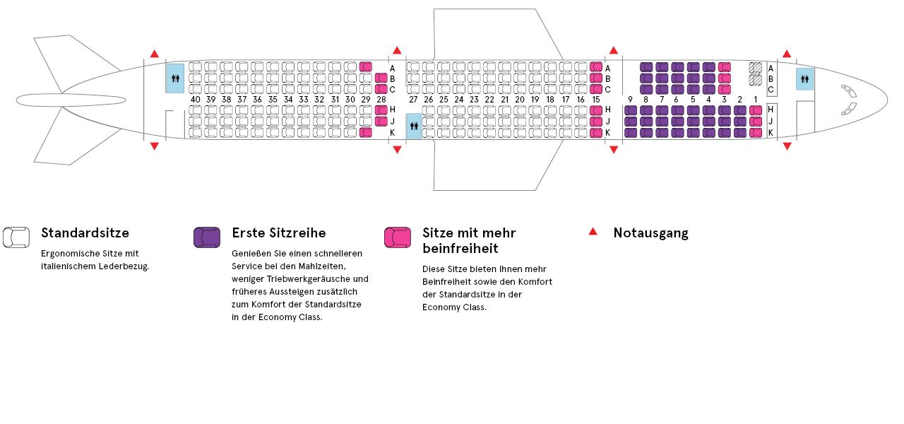 Flugzeugkabine eines Air Transat Airbus A321-200