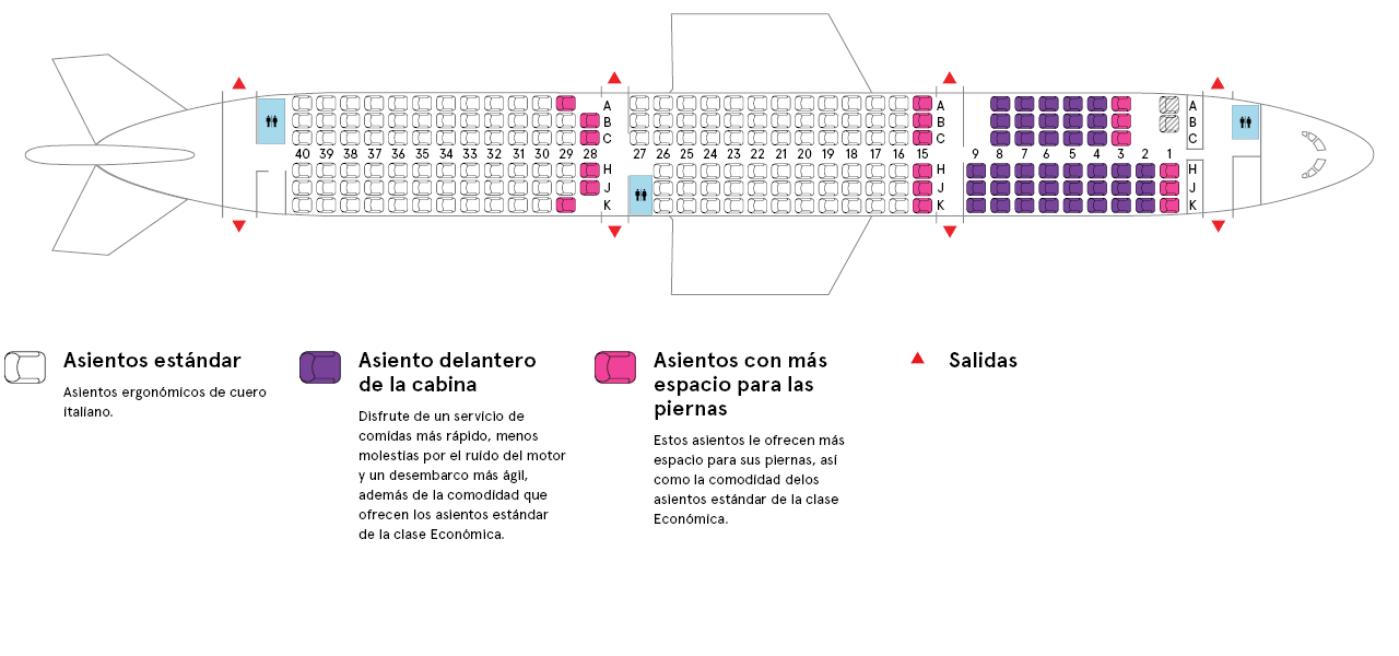 Cabina del avión Airbus A310-300 de Air Transat