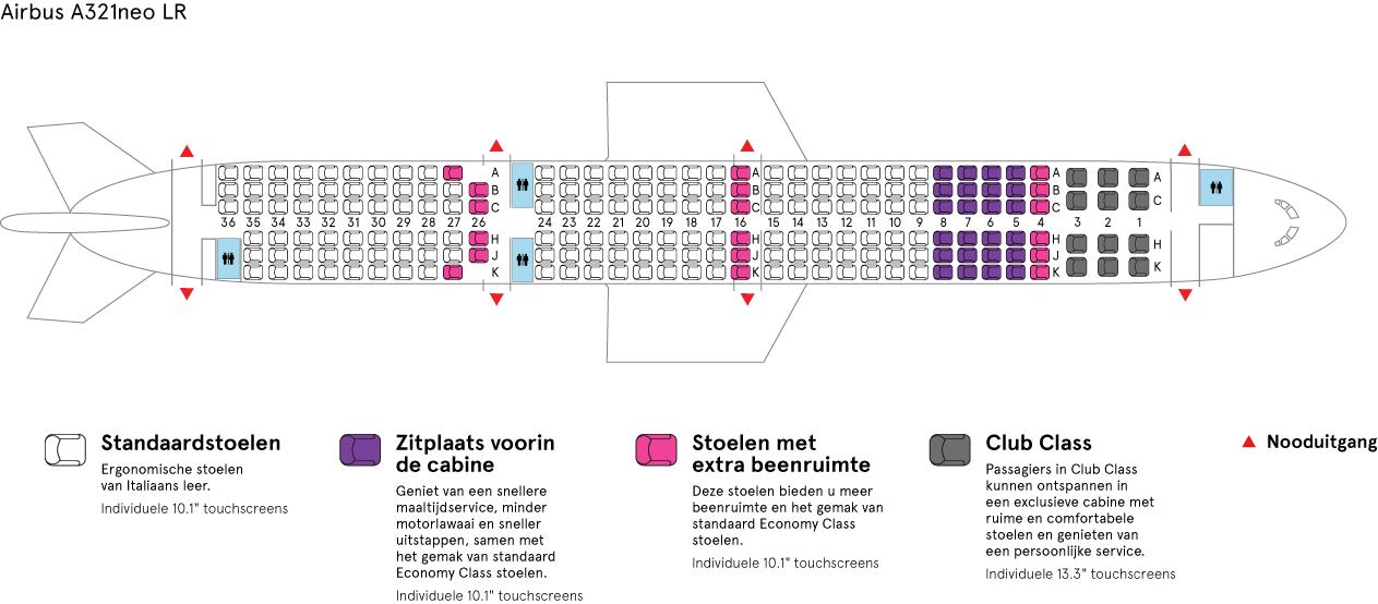 Cabine van Air Transat's Airbus-A321neo LR
