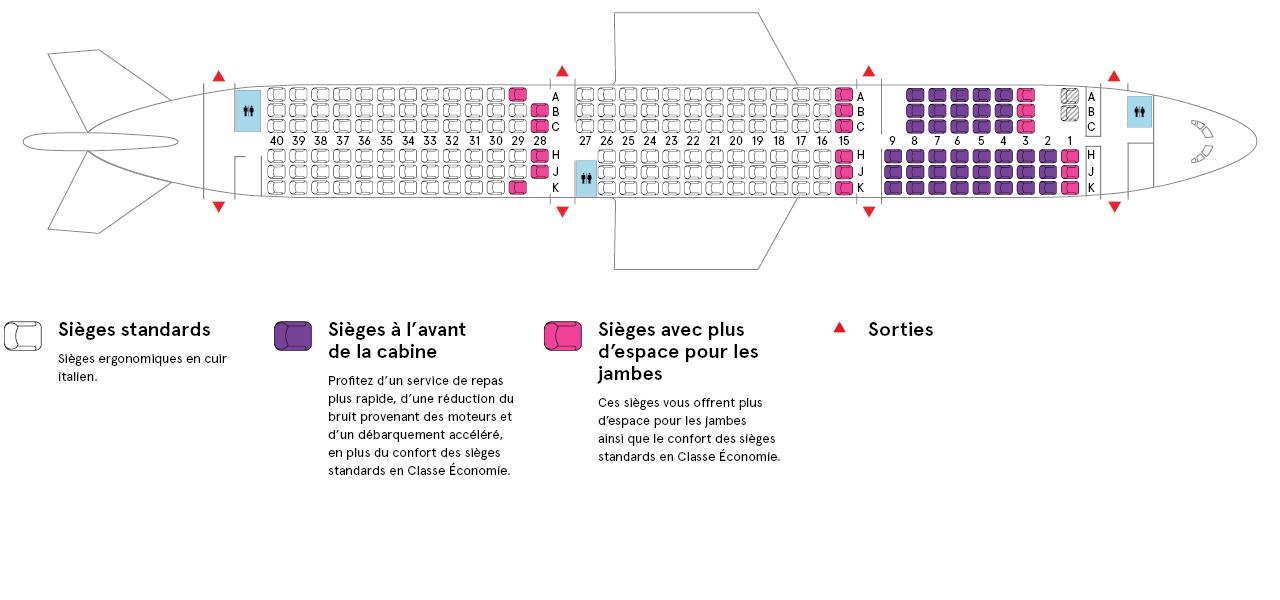 Cabine de l'Airbus A321-200 Air Transat