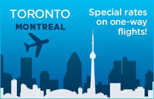 Deals toronto to montreal